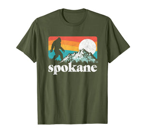 Spokane Washington Bigfoot Mountains T-Shirt