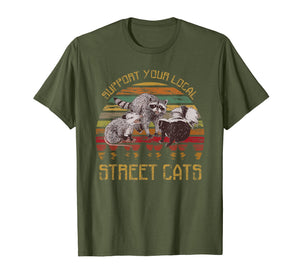 Support your local street cats vintage t shirt