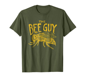 Mens Beekeeper Shirt - The Bee Guy Beekeeping Honey Bee Graphic