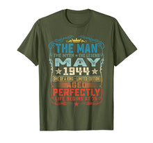 Afbeelding in Gallery-weergave laden, 75th Birthday Gifts T-Shirt Fun The Man Myth Legend May 1944