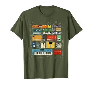 Synthesizer and Drum Machine T shirt for Electronic Musician