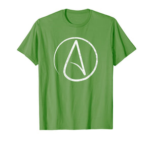 Atheism Symbol T-Shirt Distressed Atheist Shirt