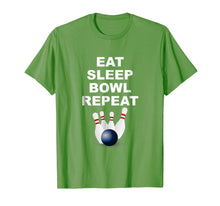 Afbeelding in Gallery-weergave laden, Eat Sleep Bowl Repeat Shirt | Bowling Gift Ideas