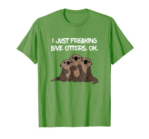 Love Otters Tee | Funny T-Shirt Gifts for Otters Lovers