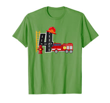 Afbeelding in Gallery-weergave laden, Boy's 4 Year Old Fire Truck Birthday Tee
