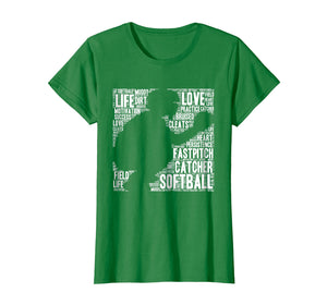 Softball Catcher Fastpitch T Shirt Softball Mom Youth Kid
