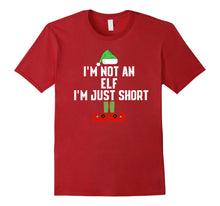 Afbeelding in Gallery-weergave laden, I'm Not An Elf I'm Just Short Christmas Tshirt