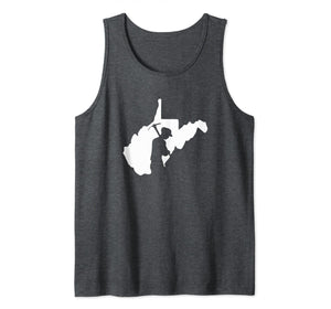West Virginia Coal Miner Silhouette in the State Tank Top