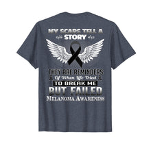 Afbeelding in Gallery-weergave laden, My scars tell a story. Melanoma Awareness Shirt