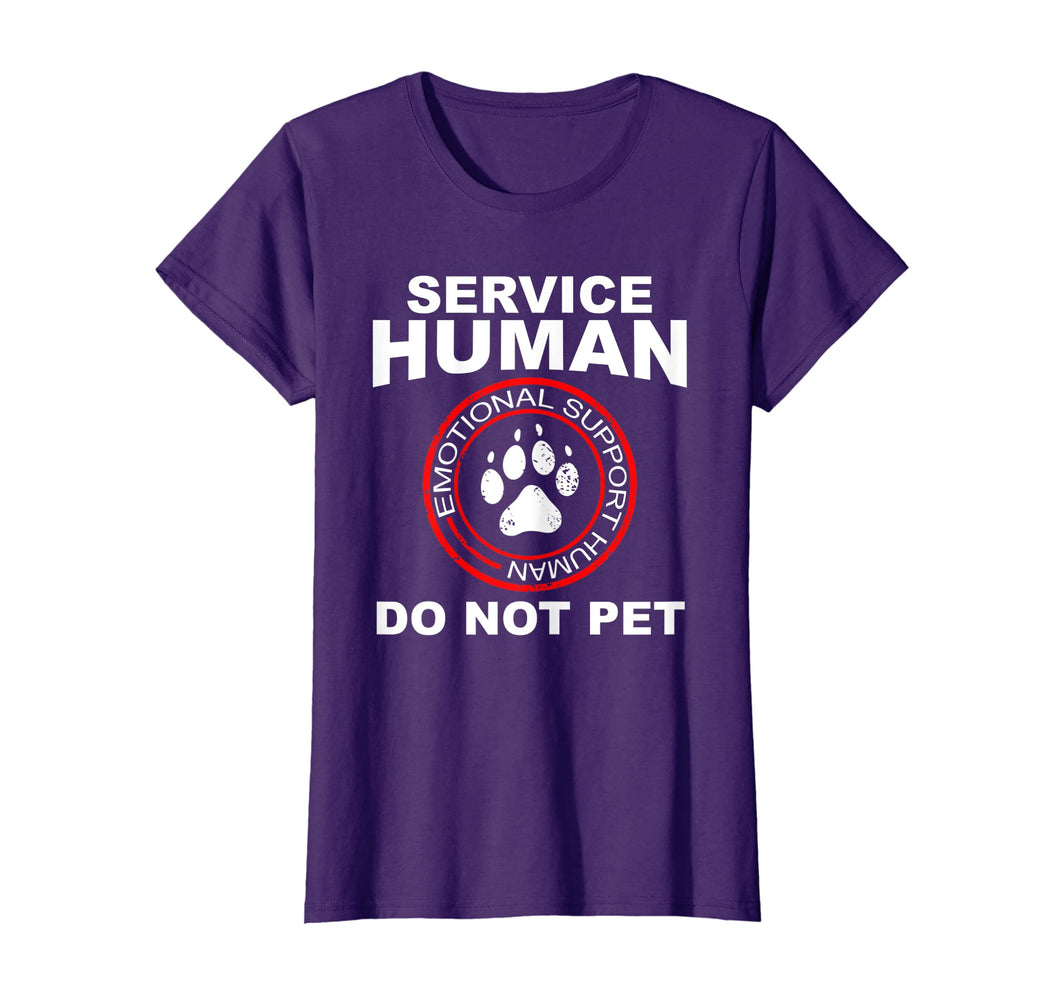Service Human Tshirt Funny Dog Owner Emotional Support Human