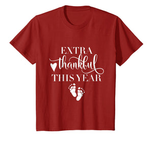 Extra Thankful This Year Love Funny Turkey Pregnancy T shirt