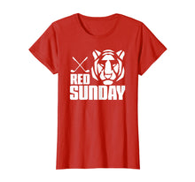 Afbeelding in Gallery-weergave laden, Tiger Red Sunday Golf tshirt