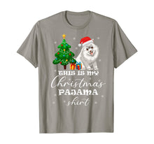 Afbeelding in Gallery-weergave laden, This is my Christmas Pajama Samoyed Costume Santa Hat gift T-Shirt