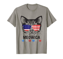 Afbeelding in Gallery-weergave laden, 4th of July T Shirt American Flag Cat MEOWICA Shirt