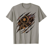 Afbeelding in Gallery-weergave laden, Steampunk Clockwork T Shirt Mechanical Gears Gift