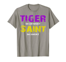 Afbeelding in Gallery-weergave laden, Tiger on Saturday Saint on Sunday Louisiana Football Apparel T-Shirt
