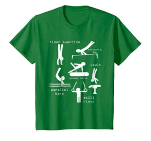 Kids gipsytshirts: Men Gymnastics Events T-Shirt Youth