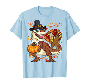 Thanksgiving T-Rex Dinosaur Shirt Dabbing Turkey Shirt Boy T-Shirt
