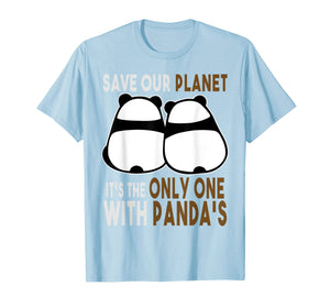 Earth-Day Shirt Planet Gift Idea Save Our Planet With Panda