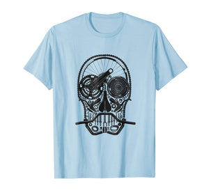 MOUNTAIN BIKE SKULL T-SHIRT - explore adventure TEE