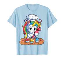 Afbeelding in Gallery-weergave laden, Unicorn Cupcake T shirt Girls Rainbow Unicorns Baking Cake