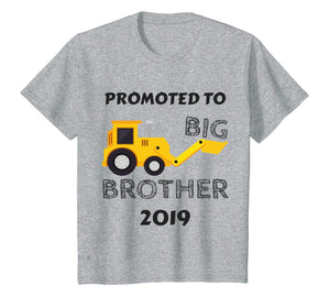 Kids Kids Promoted To Big Brother 2019 Shirt Tractor Boys Toddler