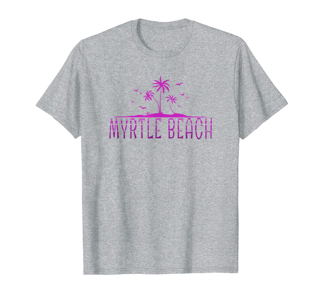Myrtle Beach tropical beach vacation tee