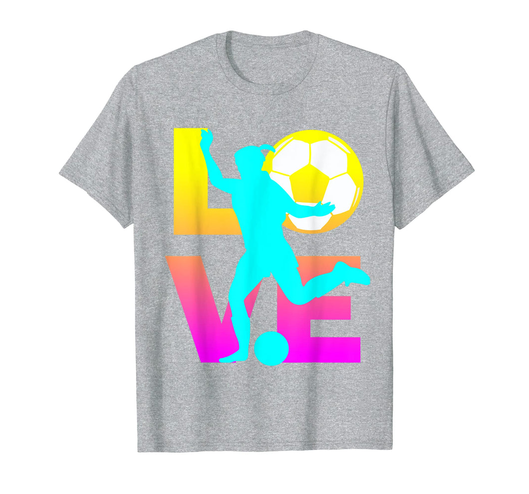 LOVE Women Teen Girls Soccer T-Shirts