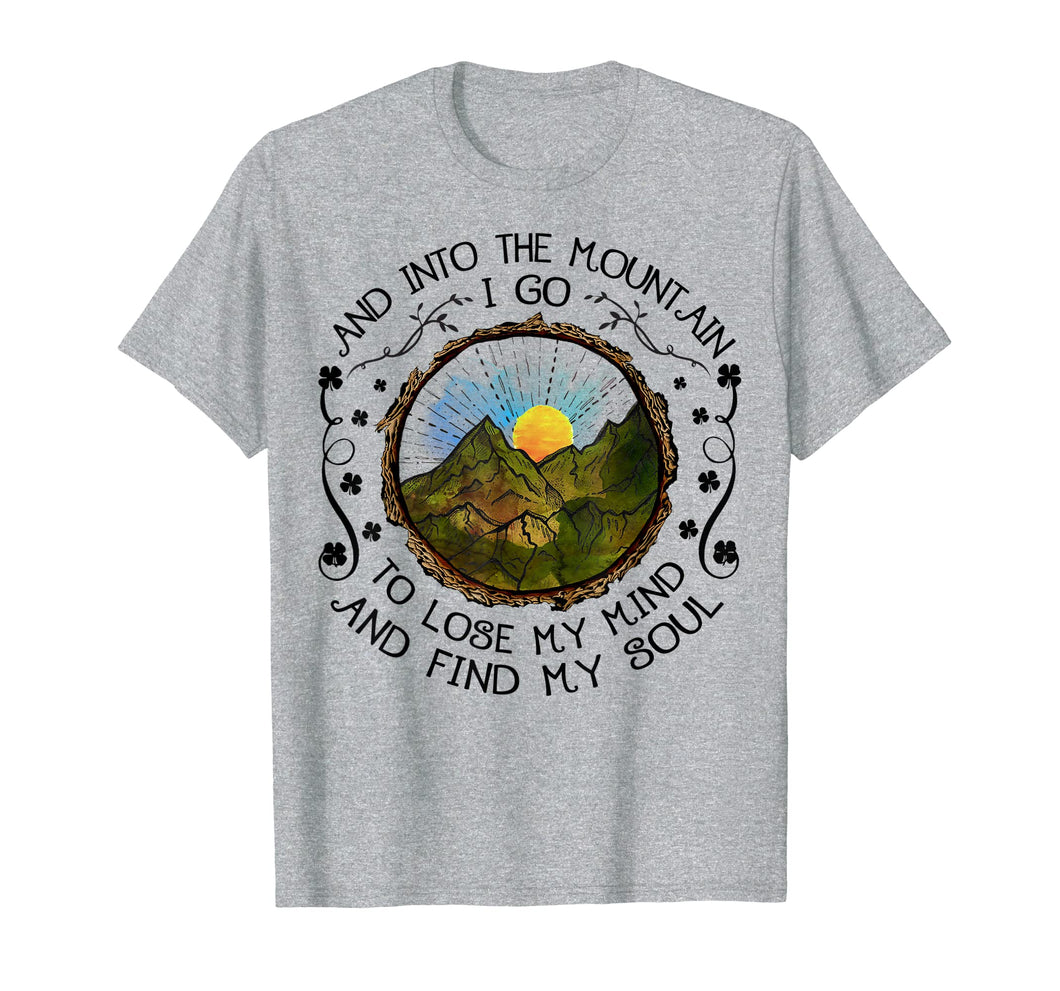 Into The Forest I Go Funny Hiking Camping T-shirt