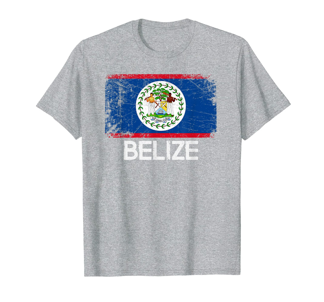 Belizean Flag T-Shirt | Vintage Made In Belize Gift