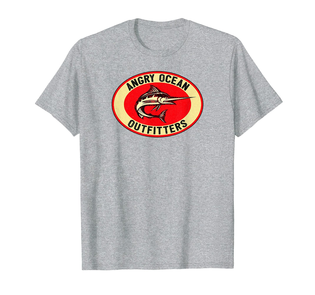 Marlin Fishing T Shirt Angry Ocean Outfitters Tee