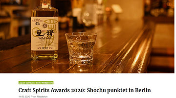 about-drinks - Craft Spirits Awards 2020: Shochu punktet in Berlin