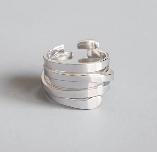 Sterling Silver Winding Ring
