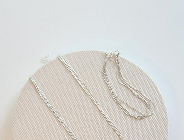 Sterling Silver Waterfall Strand Necklace