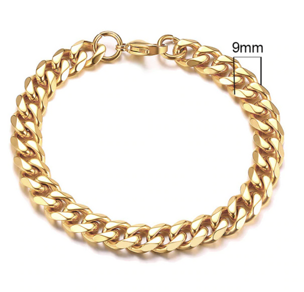 Cuban Chain Bracelet (9mm)