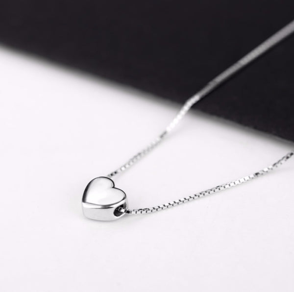 Sterling Silver Love Heart Necklace from Embellish | London