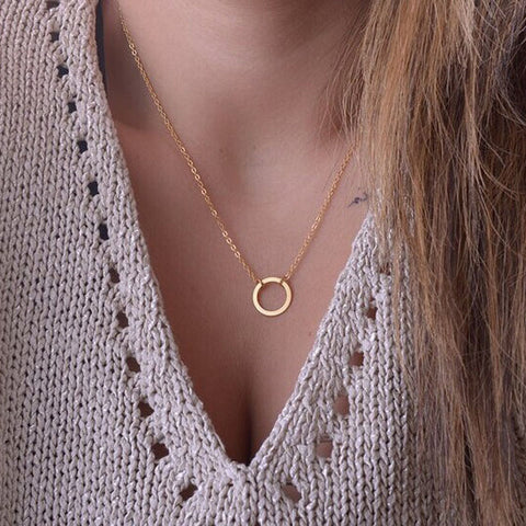 Simple Circle Pendant Necklace from Embellish | London