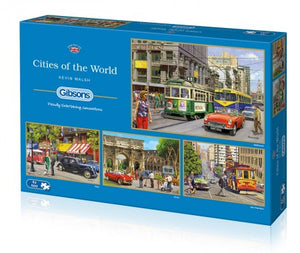 Puzzel cities of the world 4x500 pcs