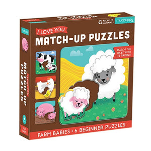 Match-Up Puzzle Farm Babies