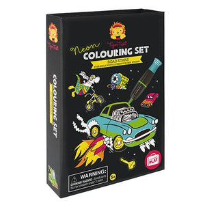 Neon Colouring Set Road Stars