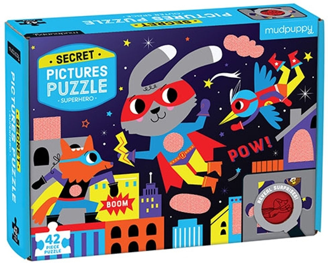 Puzzle Secret Picture Superhero (42pcs)