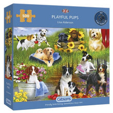Afbeelding in Gallery-weergave laden, Puzzle Playful Pups (500 pcs)