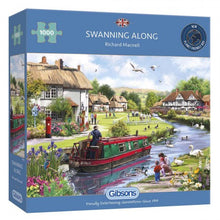 Afbeelding in Gallery-weergave laden, Puzzle Swanning Along (1000 pcs)