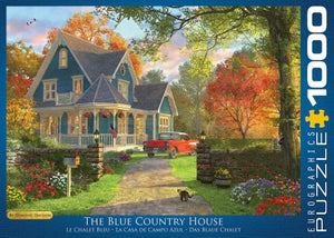 puzzle The blue country house