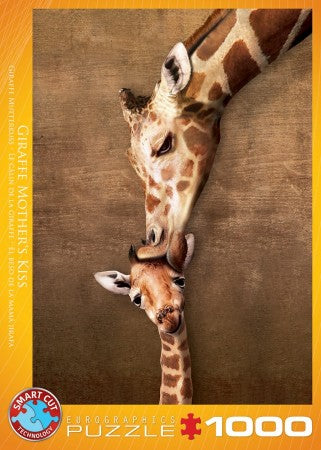 Puzzle Giraffe mother's kiss 1000pcs