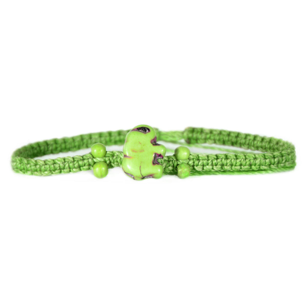Lucky Light Green Elephant Bracelet