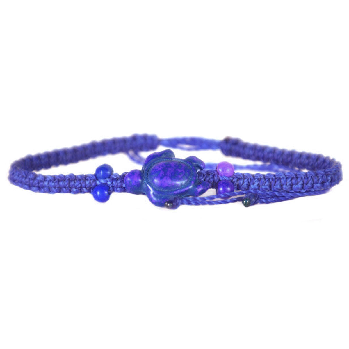 Beaded Sea Turtle Bracelet Purple
