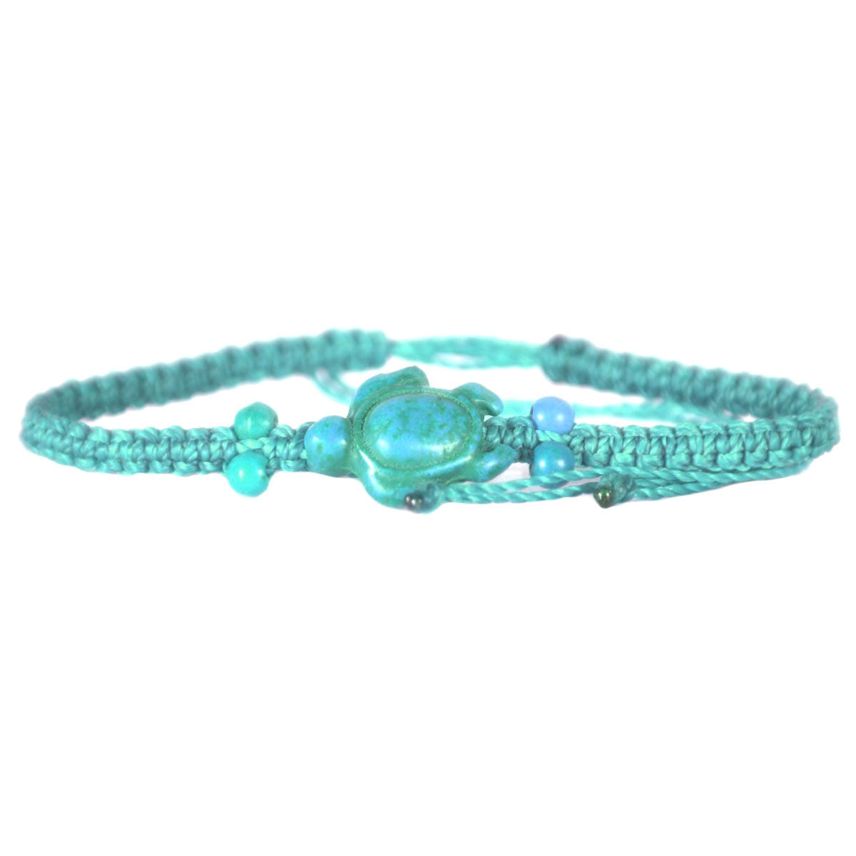 Beaded Sea Turtle Bracelet Turquoise