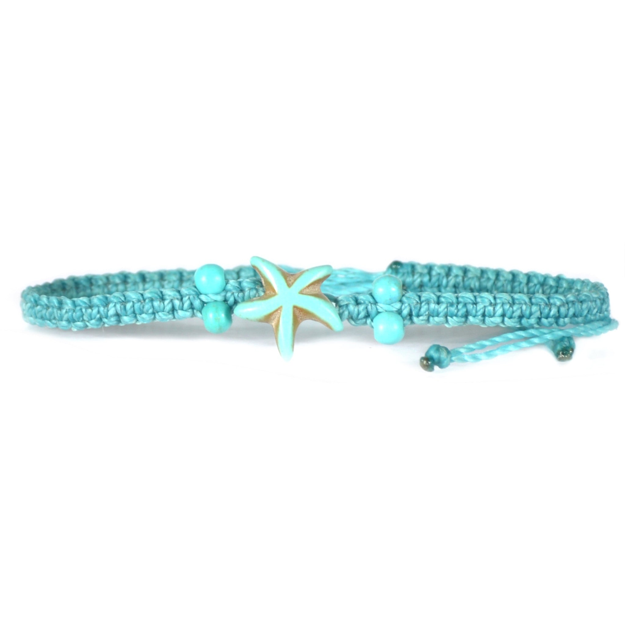 Beaded Turquoise Star Fish Bracelet
