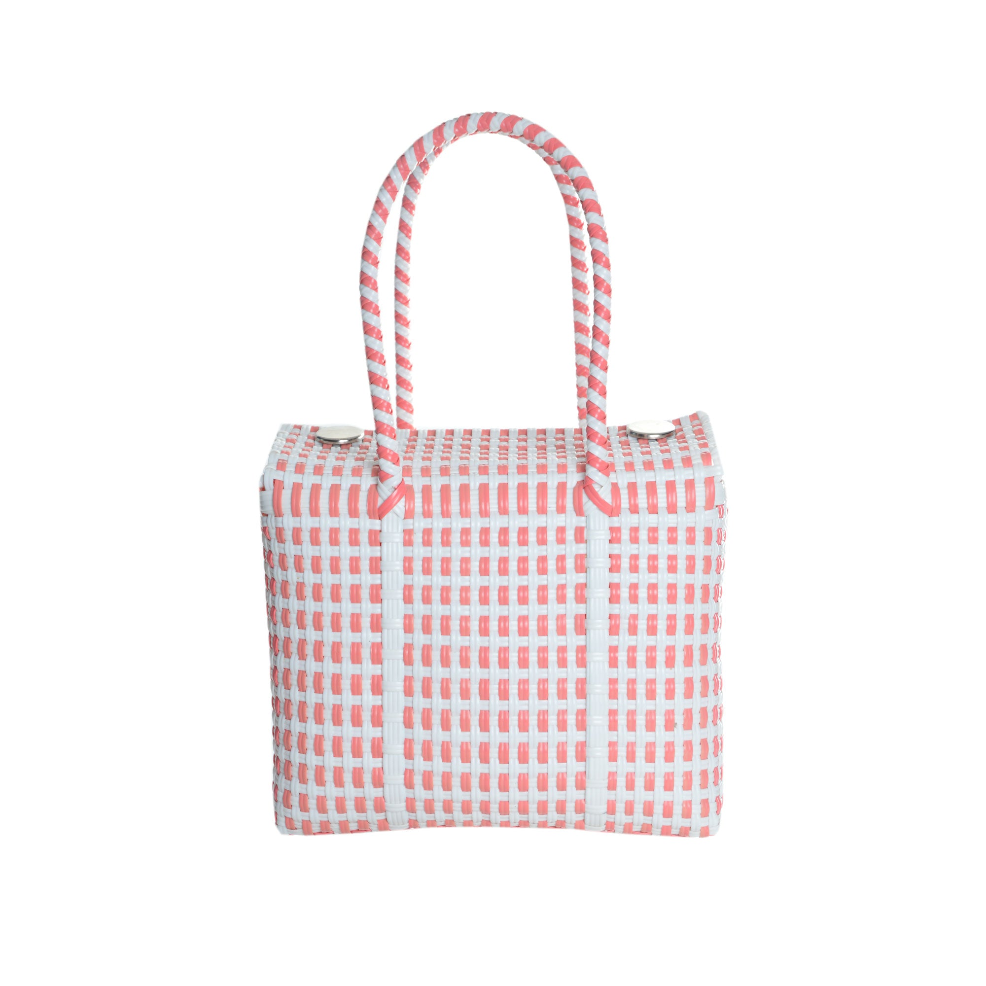 Woven Oaxaca Tote - Coral Pink